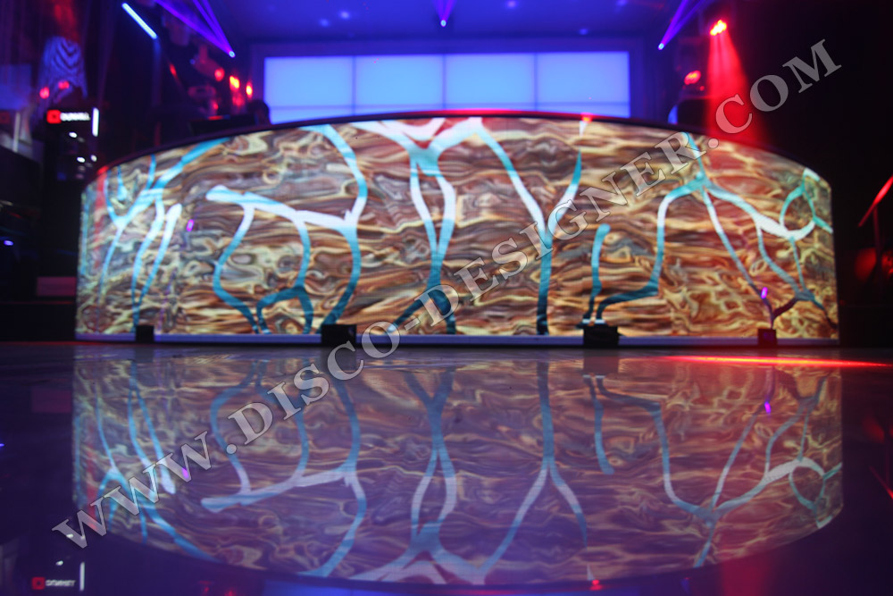 Dj Booth Video Display Curved Shape 27 000 Px M 178