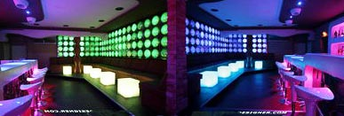 Led lighted lounge design panels