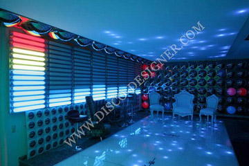 EQUALIZER AND CEILING LED PANEL FOR DISCO