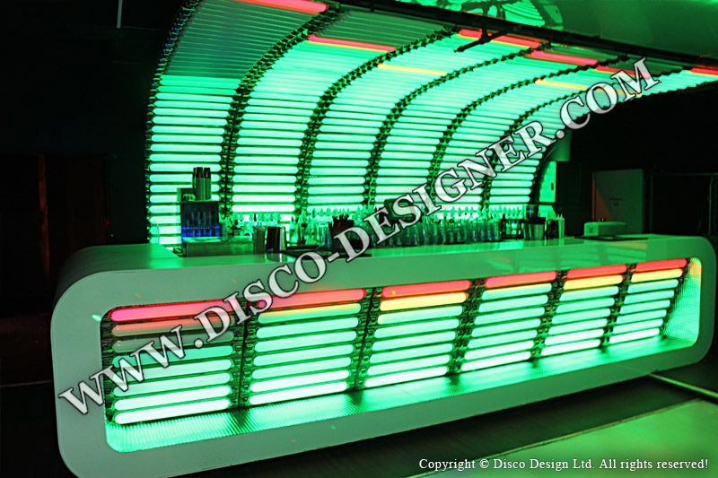 led bars and shelves