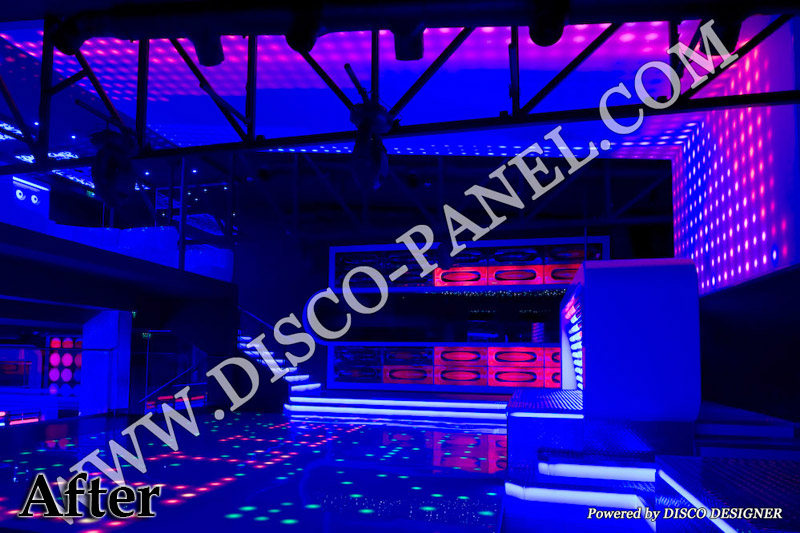disco panel nightclub interior design