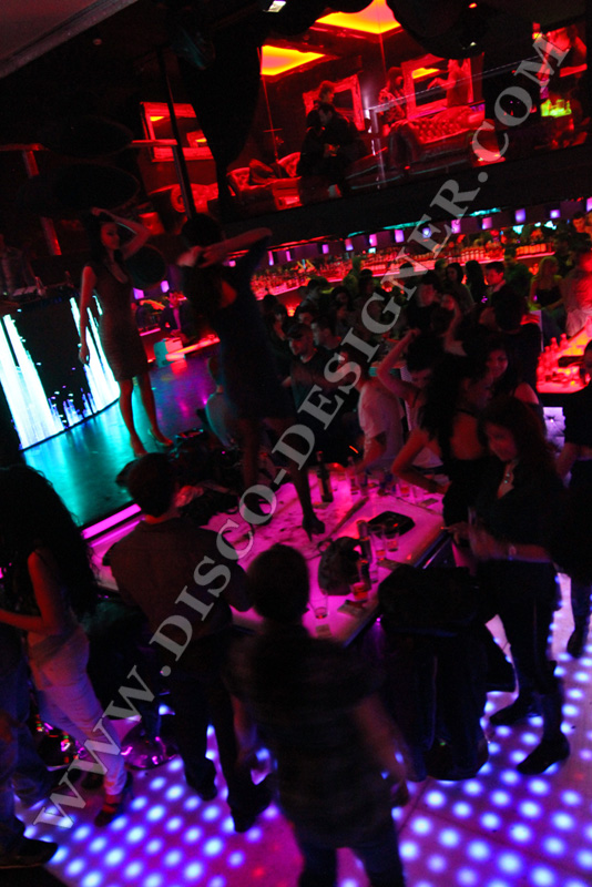 cool party in modern disco