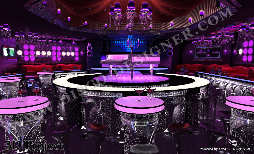 3d interior disco club