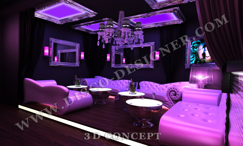 Modern Nightclub Wall Led Lighting And Decor Bar Lounge
