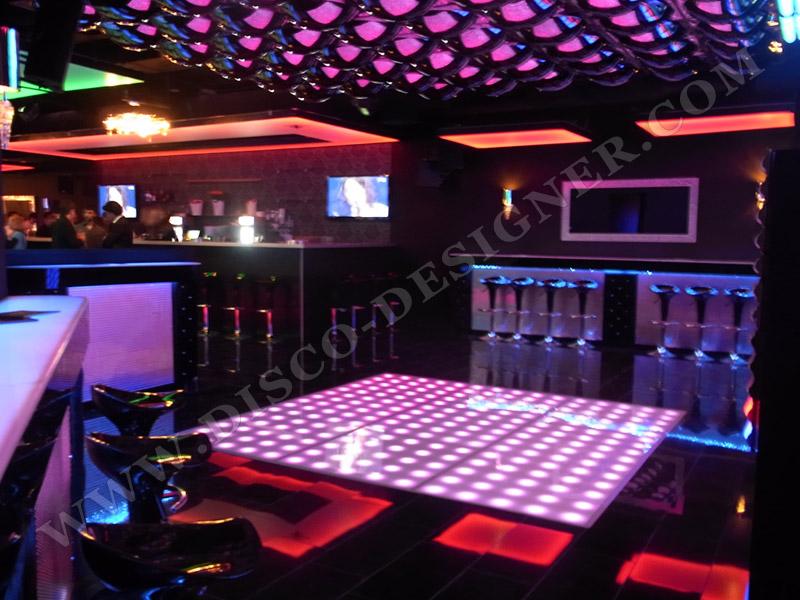 Modern Nightclub Wall Led Lighting And Decor Bar Lounge