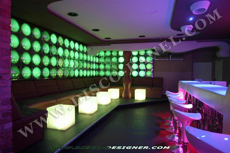 Modern nightclub wall led lighting and decor bar lounge decoration modern pub design for Decoration lounge bar nimes
