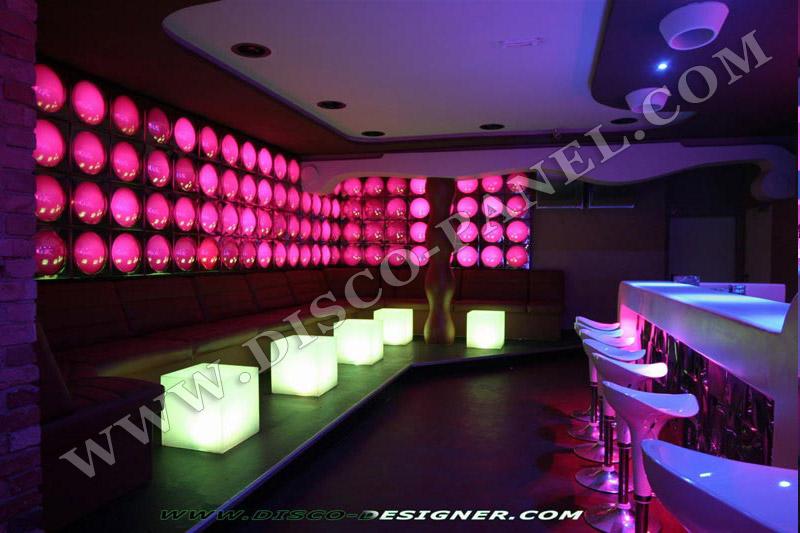 Modern Wall Lights Lounge : MODERN NIGHTCLUB WALL LED LIGHTING AND DECOR - BAR LOUNGE DECORATION - MODERN PUB DESIGN