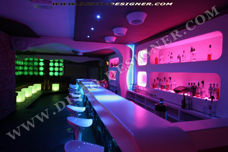 modern nightclub wall led lighting and decor bar lounge. Black Bedroom Furniture Sets. Home Design Ideas