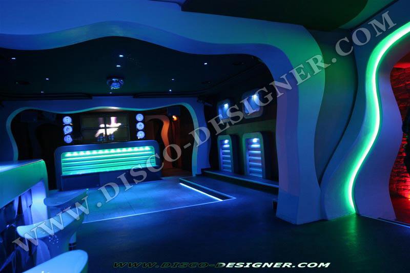 MODERN NIGHTCLUB WALL LED LIGHTING AND DECOR - BAR LOUNGE ...