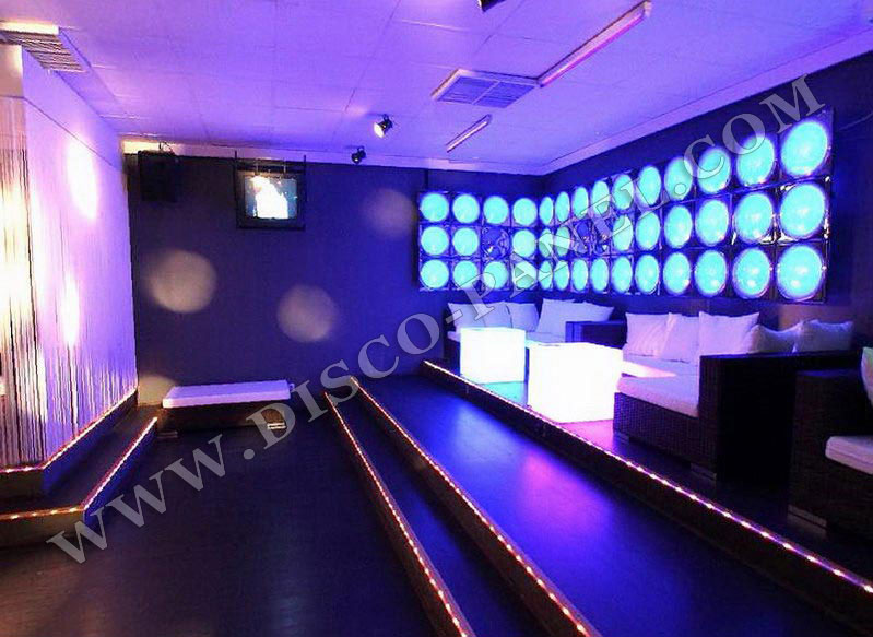 Nightclub furniture led lighted cube tables led for Decoration boite de nuit
