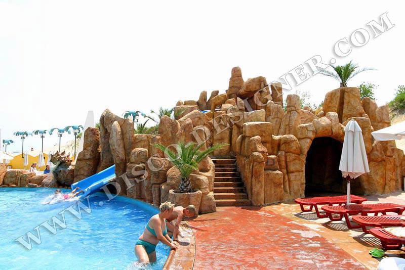 Rocas artificial para discotecas cascadas para for Cascadas artificiales en piscinas