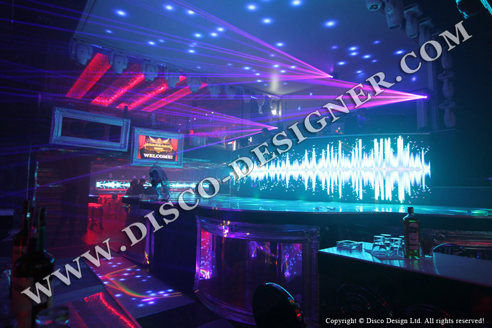 led wall-DJ booth