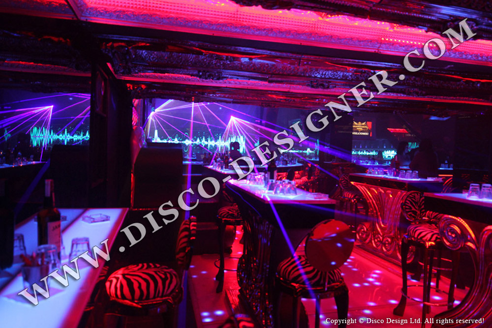 disco-chair, disco led table