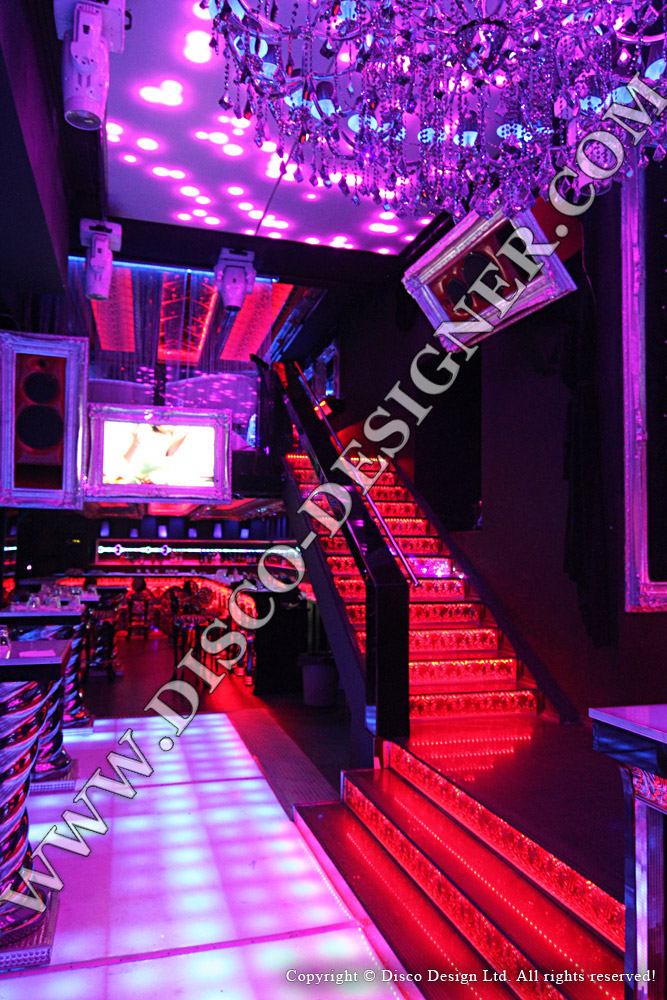 nightclub stairs