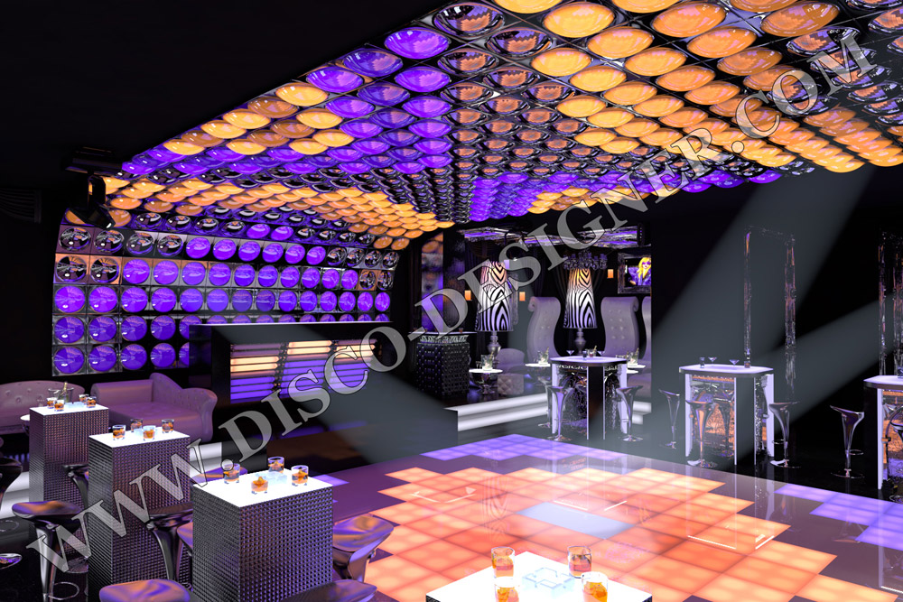 Project Cost Example - 3D Visualization of nightclub Project Design
