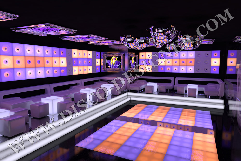 LED DANCE FLOOR LIGHTED