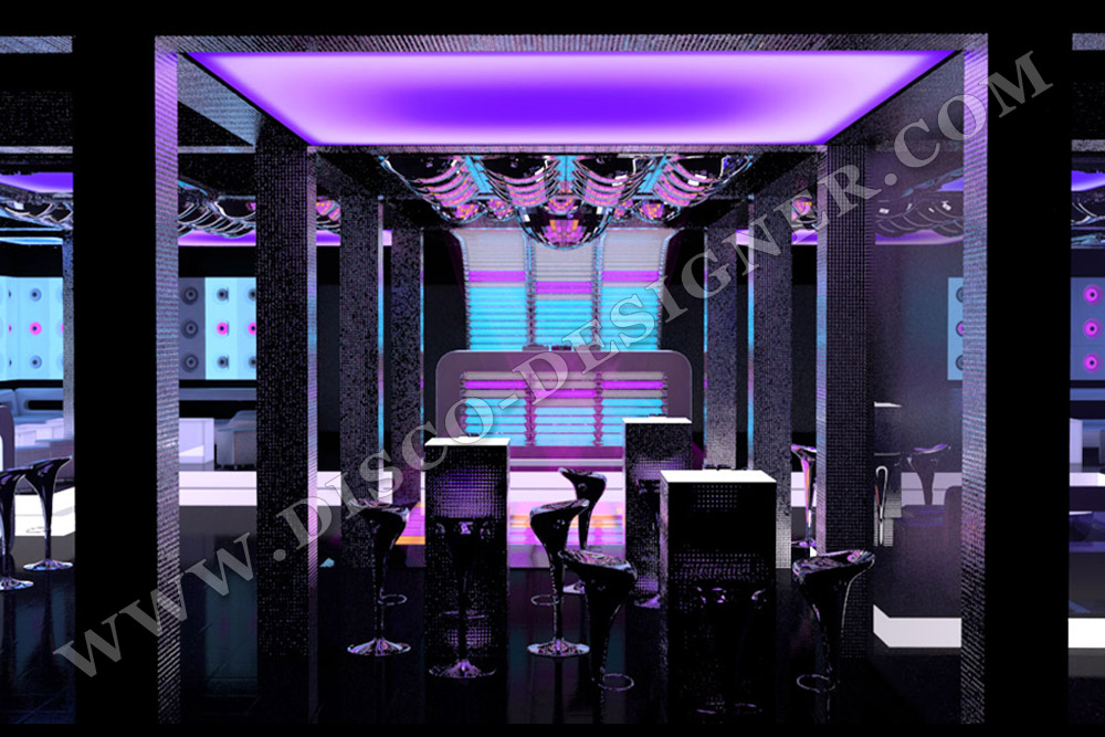 led ceiling panel, nightclub