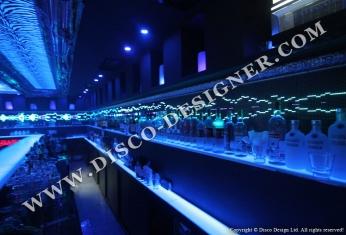 LED wall shelves