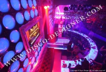 illuminated club decor
