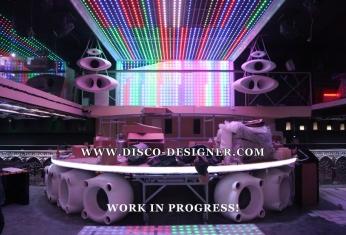 LED nightclub ceiling
