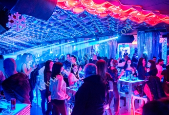 modern nightclub tables