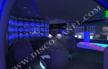 modern disco interior design